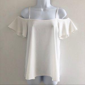 Charlotte Russe Silk Cold Shoulder Top